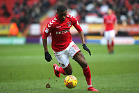 Stephy Mavididi of Charlton Athletic, currently on loan from Arsenal during Charlton Athletic vs Oxford United, Sky Bet EFL League 1 Football at The Valley on 3rd February 2018