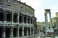 Italy: Rome--Theatre of Marcellus, end of 1st C. B.C.  (Marcellus was a nephew of Augustus.) Photo '82.