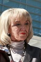AJ ALEXANDR/AAP -  Governor Jan Brewer(cq) and Attorney General Tom Horne(cq) File a countersue on Arizona Immigration law against the Federal Goverment at the Federal Court In Phoenix. On Thursday Feb 10, 2011..Photo by AJ ALEXANDER