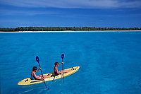 kayaking at Midway Atoll, Papahanaumokuakea Marine National Monumen, Northwestern Hawaiian Islands, Hawaii, Pacific Ocean