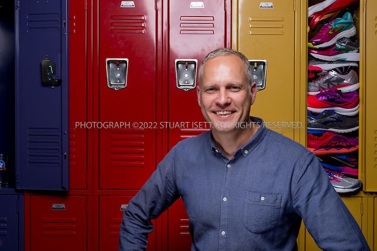 8/1/2016-- Seattle, WA, USA<br /> <br /> Gerald Kuhtz, Director of Global Footwear Designat Brooks.<br /> <br /> Photograph by Stuart Isett. &copy;2016 Stuart Isett. All rights reserved.