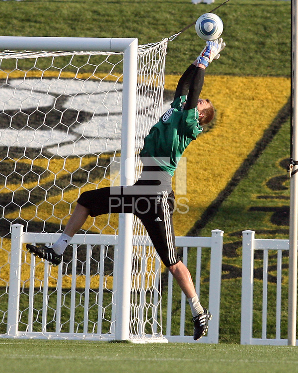 Joe Willis(31) of D.C. United makes a save  during a play-in game for the US Open Cup tournament against the Philadelphia Union at Maryland Sportsplex, in Boyds, Maryland on April 6 2011. D.C. United won 3-2 after overtime penalty kicks.