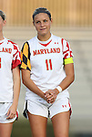 20 September 2012: Maryland's Olivia Wagner. The University of Maryland Terrapins played the Duke University Blue Devils to a 2-2 tie after overtime at Koskinen Stadium in Durham, North Carolina in a 2012 NCAA Division I Women's Soccer game.