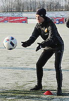20170118 - TUBIZE , Belgium : Belgian Aline Zeler pictured during a training session of the Belgian national women's soccer team Red Flames during their winter camp, on the 18 th of January in Tubize. PHOTO DIRK VUYLSTEKE | Sportpix.be