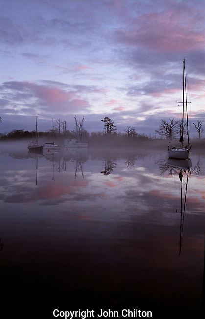 Photo of boats in fog