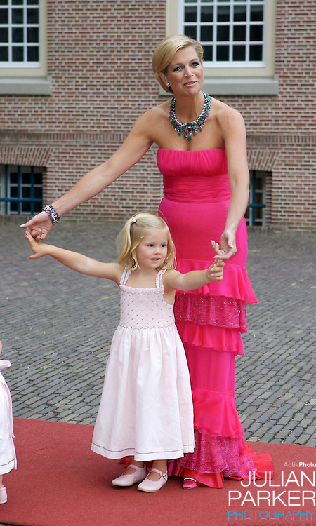 Crown Princess Maxima of Holland, and her Daughter Princess Catharina Amalia, arrive for a Reception at Het Loo Palace in Apeldoorn, to celebrate the 40th Birthday of Crown Prince Willem Alexander, The Prince turned forty in April earlier this year.