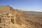 Israel, Negev, Machmal Fortress overlooking Ramon Crater