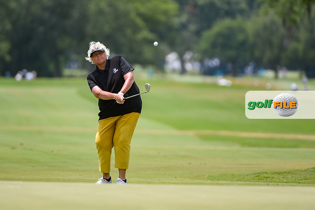 Laura Davies (ENG) chips up on to 9 during round 2 of the 2019 US Women's Open, Charleston Country Club, Charleston, South Carolina,  USA. 5/31/2019.<br /> Picture: Golffile | Ken Murray<br /> <br /> All photo usage must carry mandatory copyright credit (© Golffile | Ken Murray)