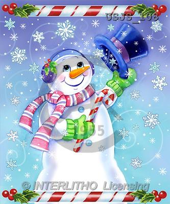 Janet, CHRISTMAS SANTA, SNOWMAN, paintings, Candy Cane(USJS108,#X#) Weihnachtsmänner, Schneemänner, Weihnachen, Papá Noel, muñecos de nieve, Navidad, illustrations, pinturas