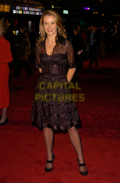 "AMANDA HOLDEN.The UK Film premiere of ""The Golden Compass"" at the Odeon Leicester Square, London, England..November 27th 2007.full length black dress sheer mary janes shoes .CAP/CAN.©Can Nguyen/Capital Pictures"