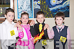 HORNPIPE: rehearing their hornpipe at the 14th Annaul Causeway Feis at Causeway Comprehensive Secondry School, on Sunday, L-r: Nathan McGrath (Ballyduff), Grace O'Connor(Tralee), Sean Slemon(Listowel) and Joshua Diggins (Ballyduff)................... . ............................... ..........