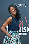 Sara Martins poses at a photocall for the TV series 'Meurtres au Paradis' during the 55th Monte Carlo TV Festival on June 13, 2015 in Monte-Carlo, Monaco