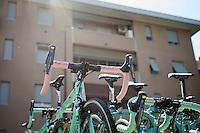 modest leaders bike...<br /> <br /> stage 18: Muggio - Pinerolo (240km)<br /> 99th Giro d'Italia 2016