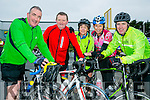 at the St. Brendan's N.S. FENIT Coastal Cycle fundraiser for St Brendan's N.S were l-r  John Moran, John Brick, Katie Moran, Ursula McCarthy and David Moore