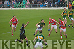 David Moran Kerry in action against Kevin O'Driscoll Cork in the Munster Final at Fitzgerald Stadium, Killarney on Saturday evening.