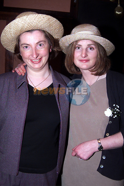 Caroline Cassidy and Mairead White at the mock wedding in the Conyngham Arms, Slane..Picture: Paul Mohan/Newsfile