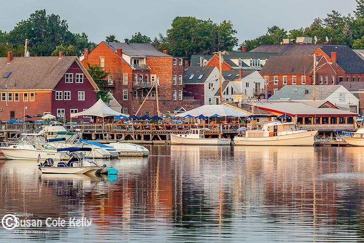 The Main Street Historic District in Damariscotta, Maine, USA