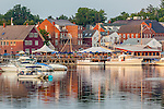 The Main Street Historic District in Damariscotta, Maine, USA