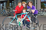 TOGETHER: The McDonnell family from Tralee who participated in the RNLI Life Boat, Charity Cycle from O'Donnell's Bar & Restaurant, Mounthawk, Tralee on Saturday. They were, Matthew,Mark,Catherine and Aoife McDonnell and Mags O'Sullivan..................................... ....