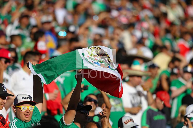 Santa Clara, CA - Saturday June 18, 2016: Fans during a Copa America Centenario quarterfinal match between Mexico (MEX) and Chile (CHI) at Levi's Stadium.