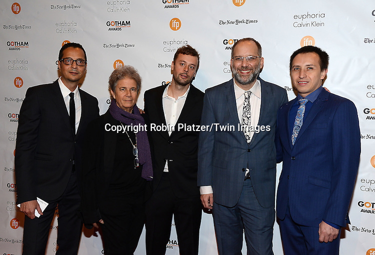 Ira Sachs and group  attends the 24th Annual Gotham Independent Film Awards on December 1, 2014 at Cipriani Wall Street in New York City, USA. <br /> <br /> photo by Robin Platzer/Twin Images<br />  <br /> phone number 212-935-0770