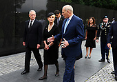 U.S. Secretary of Defence James Mattis, General John Kelly, White House Chief of Staff and Cindy McCain, wife of late Senator John McCain, walk away after laying a ceremonial wreath honouring all whose lives were lost during the Vietnam War at at the Vietnam Veterans Memorial in Washington, U.S., September 1, 2018. <br /> Credit: Mary F. Calvert / Pool via CNP