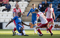 Theo Robinson of Colchester United nicks the ball through the defence during Colchester United vs Stevenage, Sky Bet EFL League 2 Football at the JobServe Community Stadium on 5th October 2019