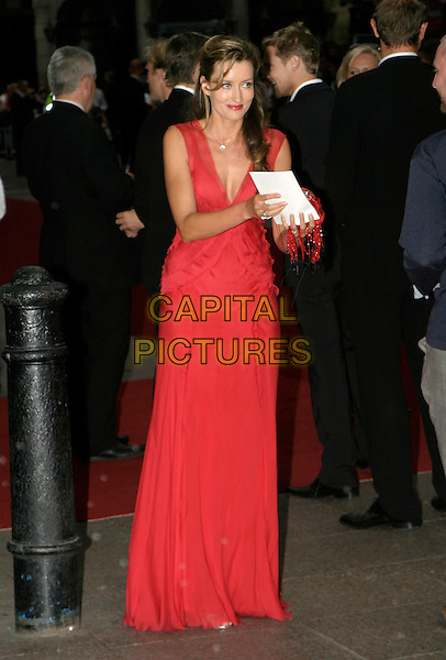 NATASHA McELHONE.Pride & Prejudice - UK film Premiere Party at Banqueting House, Whitehall..September 5th, 2005.full length red dress.www.capitalpictures.com.sales@capitalpictures.com.© Capital Pictures.