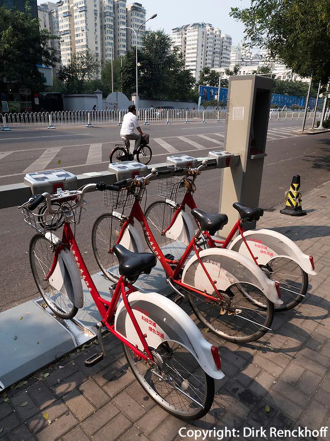 Leihfahrr&auml;der in Peking, China, Asien<br /> hire bikes, Beijing, China, Asia