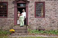 Reenactors at the Prall House, Prallsville Mills, Stockton, New Jersey