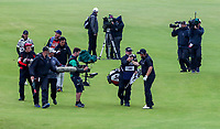 210719 | The 148th Open - Final Round<br /> <br /> Shane Lowry of Ireland congratulates his caddie Bo Martin on the 18th during the final round of the 148th Open Championship at Royal Portrush Golf Club, County Antrim, Northern Ireland. Photo by John Dickson - DICKSONDIGITAL