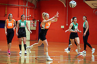 13.09.2016 Silver Ferns Laura Langman in action during training ahead of their second netball match tomorrow night between the Silver Ferns and Jamaica in Palmerston North. Mandatory Photo Credit ©Michael Bradley.