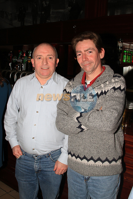 Martin O Brien and Austin Lynch at the Peter Lyons' Bakery Reunion in McHughs..Picture: Shane Maguire / www.newsfile.ie.
