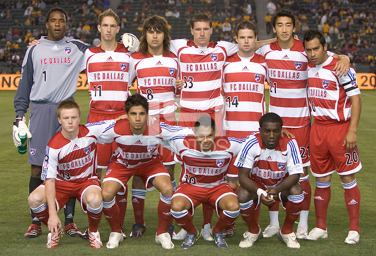 FC Dallas starting 11 team. FC Dallas beat the LA Galaxy 2-1 at the Home Depot Center in Carson, California, Thursday, April 12, 2007.