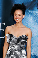 "LOS ANGELES - JUL 12:  Nathalie Emmanuel at the ""Game of Thrones"" Season 7 Premiere Screening at the Walt Disney Concert Hall on July 12, 2017 in Los Angeles, CA"