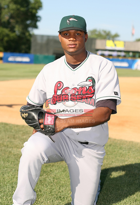 Miguel Ramirez of the Great Lakes Lagoons during the Midwest League All-Star game.  Photo by:  Mike Janes/Four Seam Images