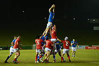 Italy U20's win a line out<br /> <br /> Photographer Richard Martin-Roberts/CameraSport<br /> <br /> Six Nations U20 Championship Round 4 - Wales U20s v Italy U20s - Friday 9th March 2018 - Parc Eirias, Colwyn Bay, North Wales<br /> <br /> World Copyright &copy; 2018 CameraSport. All rights reserved. 43 Linden Ave. Countesthorpe. Leicester. England. LE8 5PG - Tel: +44 (0) 116 277 4147 - admin@camerasport.com - www.camerasport.com