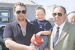 Three Generations.....John, Jack and John McConville at the official opening of the Port Oriel Harbour and Clogherhead Pier Improvements and New Facilities by John McConville.