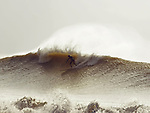 Surfing at Freshwater Bay, Isle of Wight, UK