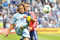 Graham Zusi (8) midfield Sporting KC in action..Sporting Kansas City defeated Chivas USA 4-0 at Sporting Park, Kansas City, Kansas.