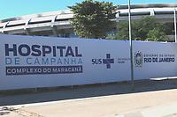 Rio de Janeiro (RJ), 12/05/2020 - Covid-19-Rio - Movimentação no hospital de campanha do Maracanã do governo do estado na zona norte do Rio de Janeiro nesta terça-feira (12).