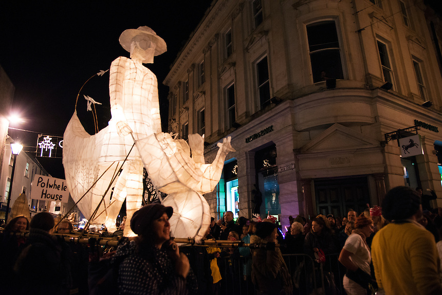 Annual parade of Truro's community featuring art, music and dance, along with turning on the Christmas lights. 19th November 2014