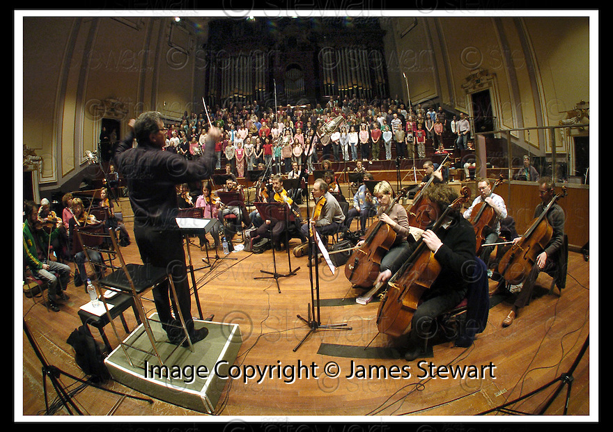 25/03/2007       Collect Pic: James Stewart.File Name : sct_jspa09_choir.HOWARD BLAKE CONDUCTS THE CHOIRS OF ERSKINE STEWART'S MELVILLE SCHOOLS AND THE SCOTTISH CHAMBER ORCHESTRA DURING RECORDING AT THE ALBERT HALLS, EDINBURGH .....James Stewart Photo Agency 19 Carronlea Drive, Falkirk. FK2 8DN      Vat Reg No. 607 6932 25.Office     : +44 (0)1324 570906     .Mobile   : +44 (0)7721 416997.Fax         : +44 (0)1324 570906.E-mail  :  jim@jspa.co.uk.If you require further information then contact Jim Stewart on any of the numbers above.........