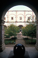Inner courtyard of the Pedro Coronel Museum in the city of Zacatecas, Mexico. The historic centre of Zacatecas is a UNESCO World Heritage site.