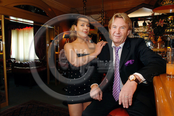 BERLIN - GERMANY 1. JUNE 200E -- Bel Ami brohel a few hundred meters away from Olympiastadion in Berlin. Here the owner of the nightclub Detlef Uhlmann with Zara. -- PHOTO: GORM K. GAARE / EUP- IMAGES ...