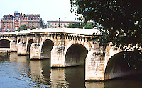 Paris: Pont Neuf--oldest of Paris Bridges, 1578-1604. Designed by Androuet Du Cerceau. Photo '90.