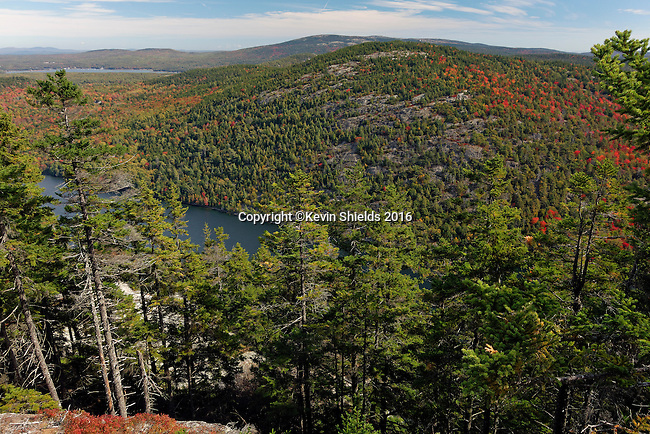View from the Perpendicular Trail, Acadia National Park, Maine, USA