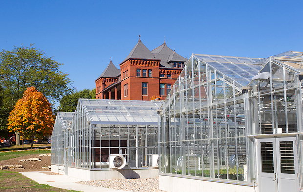 Greenhouses on the campus of Iowa State University in Ames, Iowa. (Christopher Gannon/Gannon Visuals)