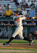 August 16, 2003:  Manny Del Rosario of the Aberdeen Ironbirds, Class-A affiliate of the Baltimore Orioles, during a game at Falcon Park in Auburn, NY.  Photo by:  Mike Janes/Four Seam Images