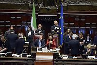 Roma, 19 Aprile 2013.Camera dei Deputati.Votazione del Presidente della Repubblica a camere riunite.ll Presidente del Senato Piero Grasso e la Presidente della Camera dei Deputati Laura Boldrini.Terzo scrutinio